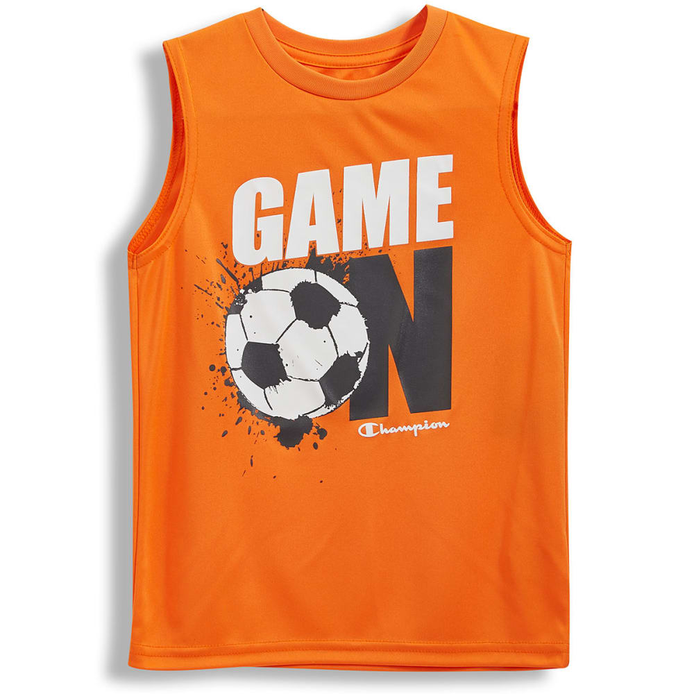 CHAMPION Little Boys' Game On Muscle Tee - VIBRANT ORANGE