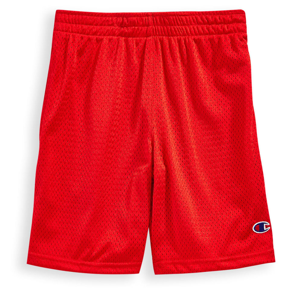 CHAMPION Boys' Heritage Mesh Short - CRIMSON