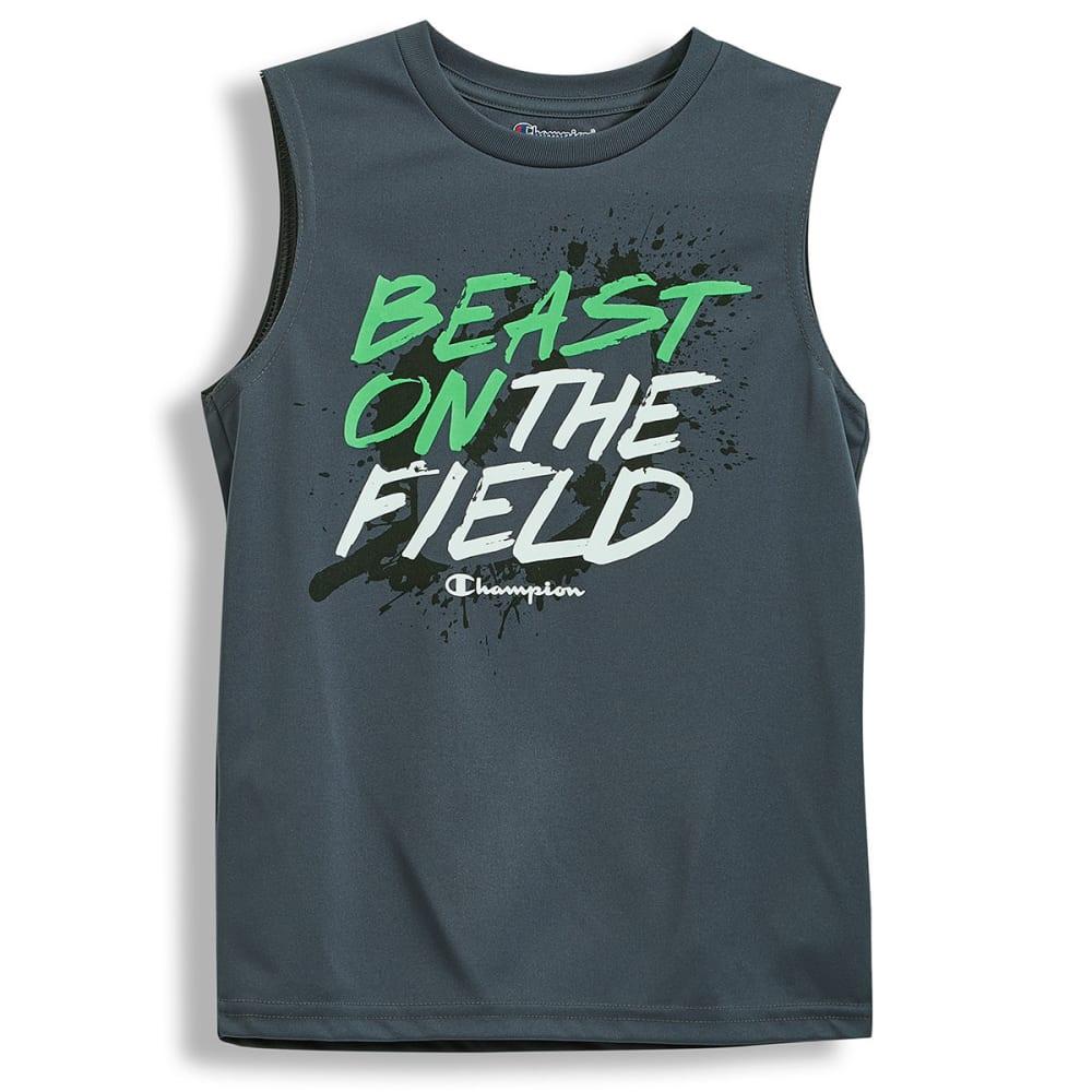 CHAMPION Big Boys' Beast on the Field Muscle Tee - SLATE GREY