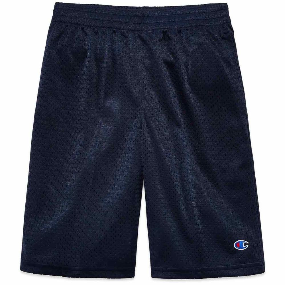 CHAMPION Boys' Heritage Mesh Shorts - NAVY