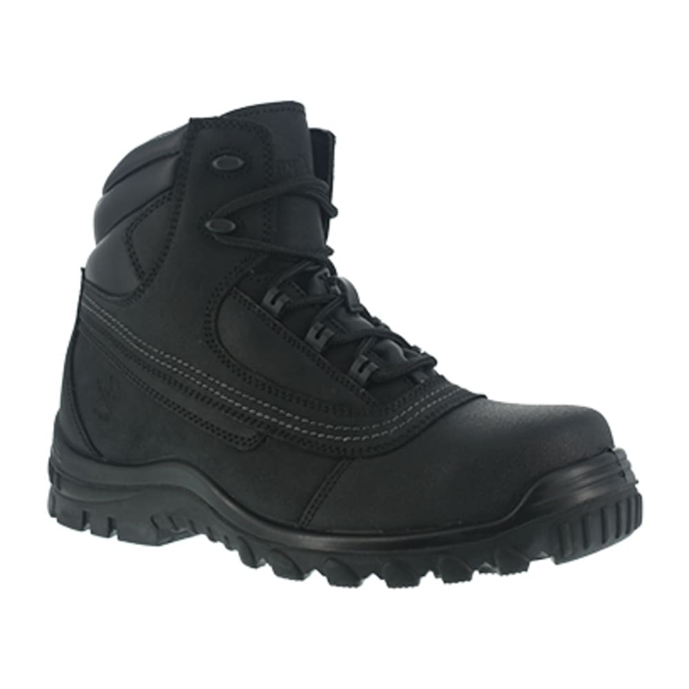 IRON AGE Men's Backstop Steel Toe 6 in. Work Boots - BLACK