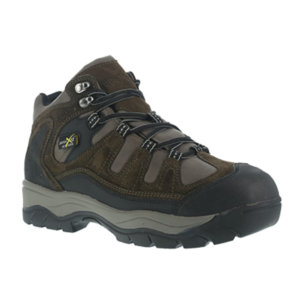 IRON AGE Men's High Ridge Steel Toe Poron XRD Internal Met Guard Sport Hiking Shoes, Brown - BROWN
