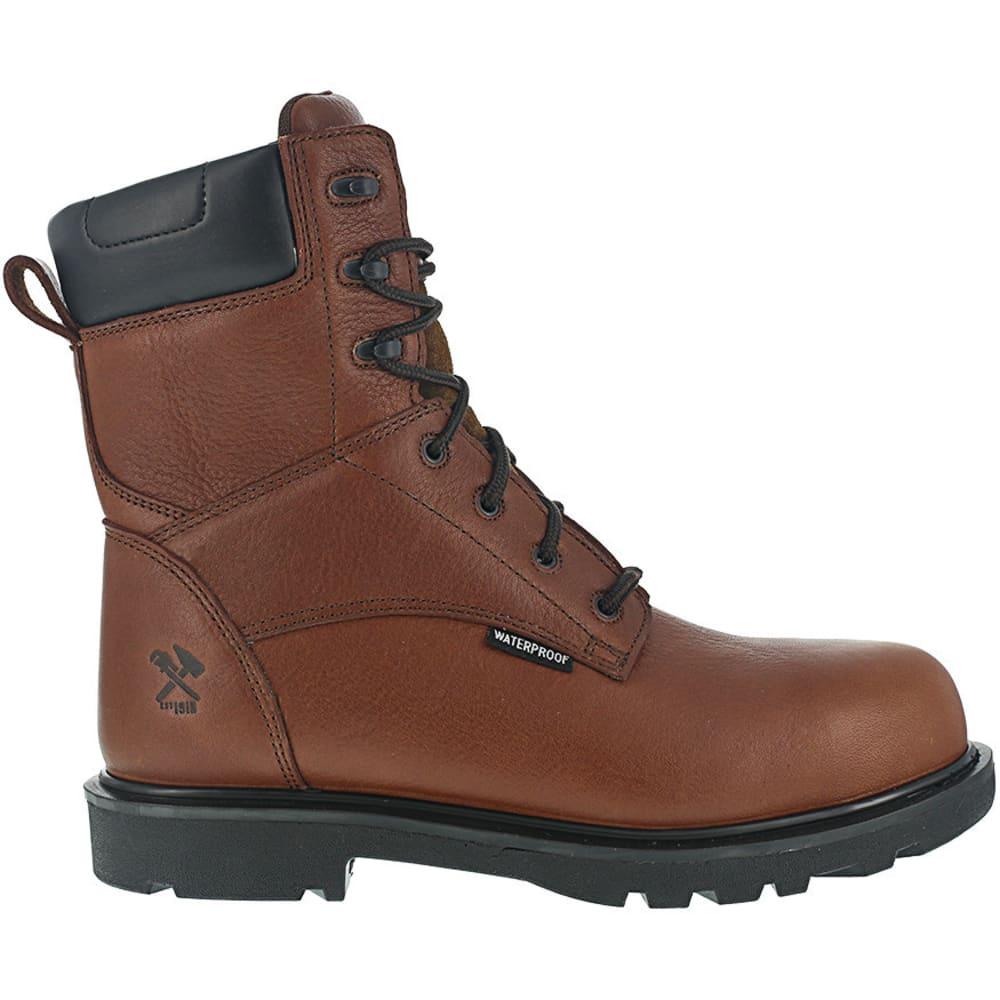 IRON AGE Men's Hauler Composite Toe 8 in. Plain Toe Waterproof Work Boots, Brown - BROWN