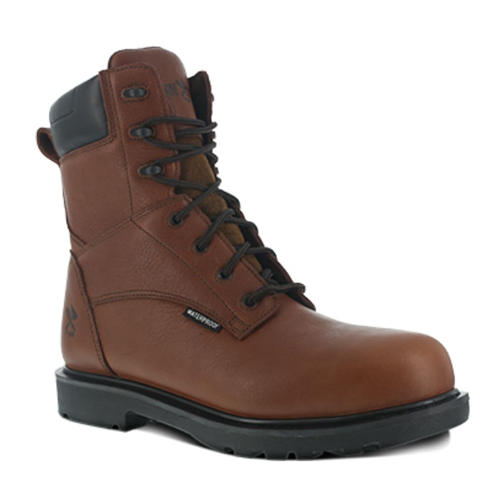 IRON AGE Men's Hauler Composite Toe 8 in. Plain Toe Waterproof Work Boots, Brown 6