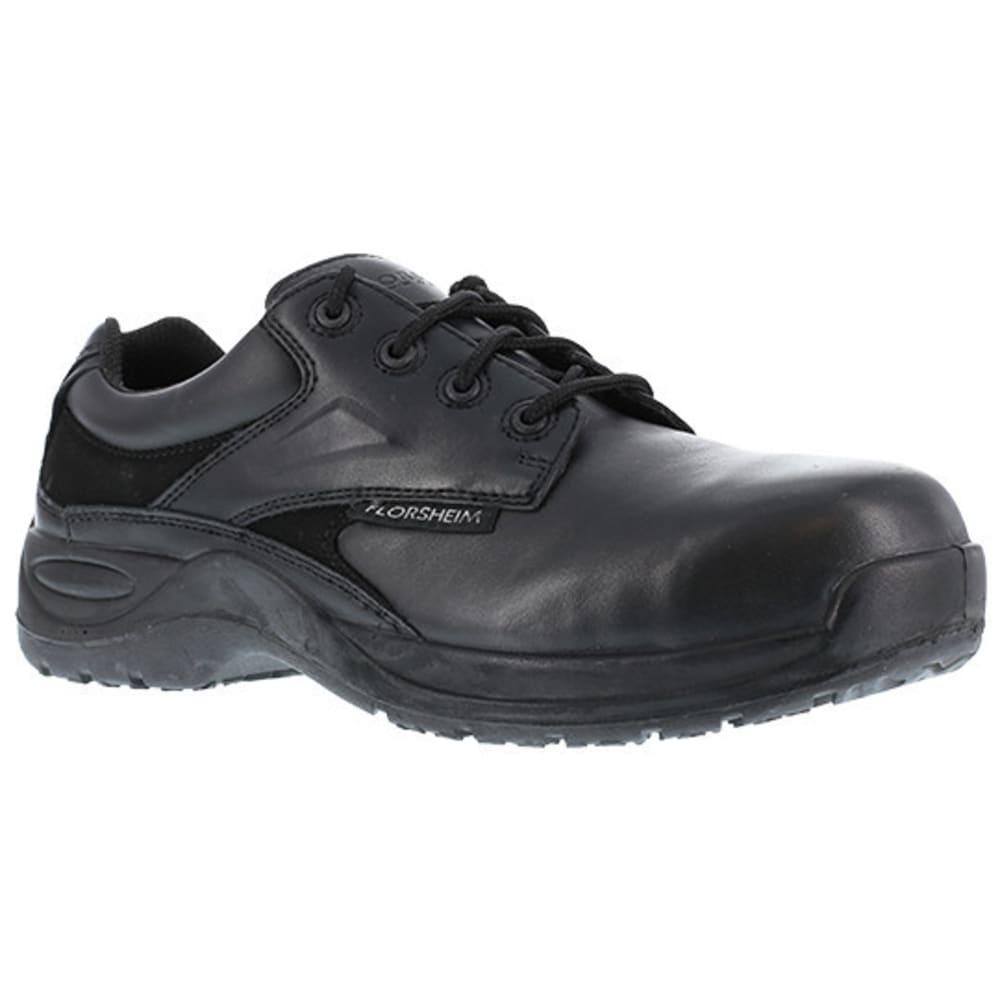 FLORSHEIM WORK Men's Vaquero Composite Toe Casual Plain Toe Oxford Shoe, Black - BLACK