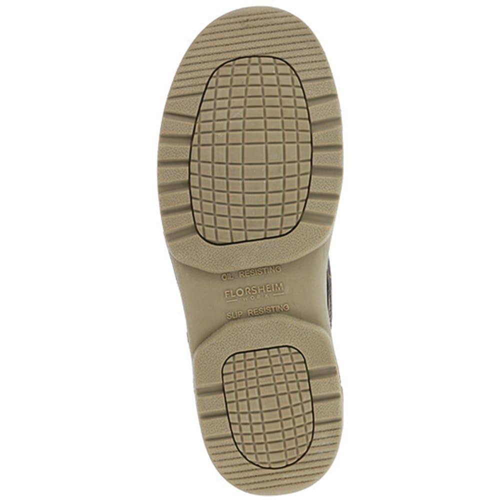 FLORSHEIM WORK Women's Compadre Composite Toe Eurocasual Moc Toe Oxford Shoe, Dark Brown - BROWN
