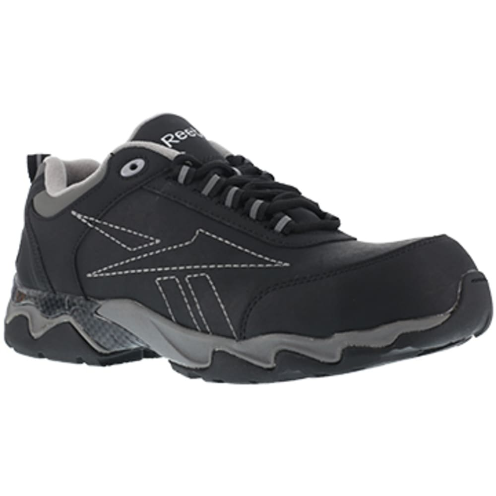 REEBOK WORK Men's Beamer Composite Toe Athletic Oxford Sneaker, Black/Grey 6