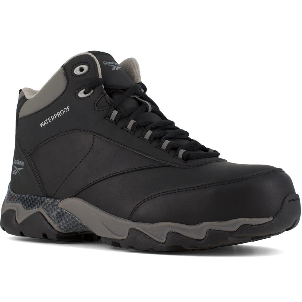 REEBOK WORK Men's Beamer Composite Toe Waterproof Athletic Hiker, Black/Grey 6