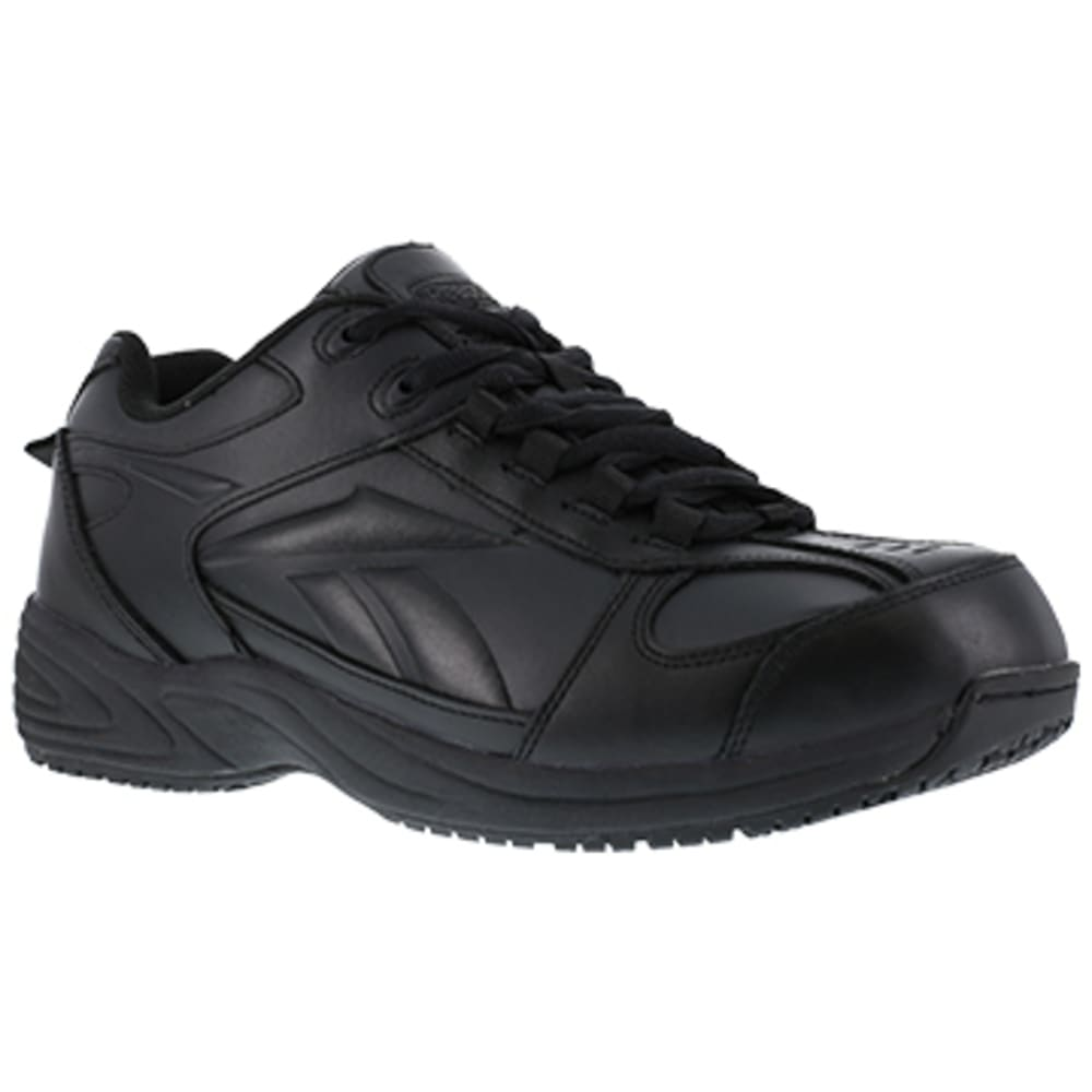 REEBOK WORK Men's Jorie Soft Toe Street Sport Jogger Oxford Sneaker, Black - BLACK