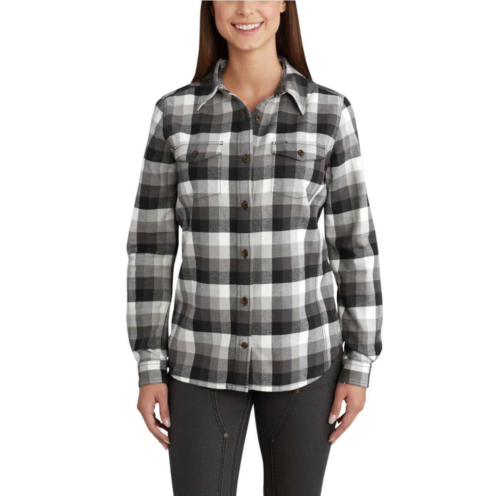 CARHARTT Women's Rugged Flex Hamilton Long Sleeve Shirt - BLACK-001