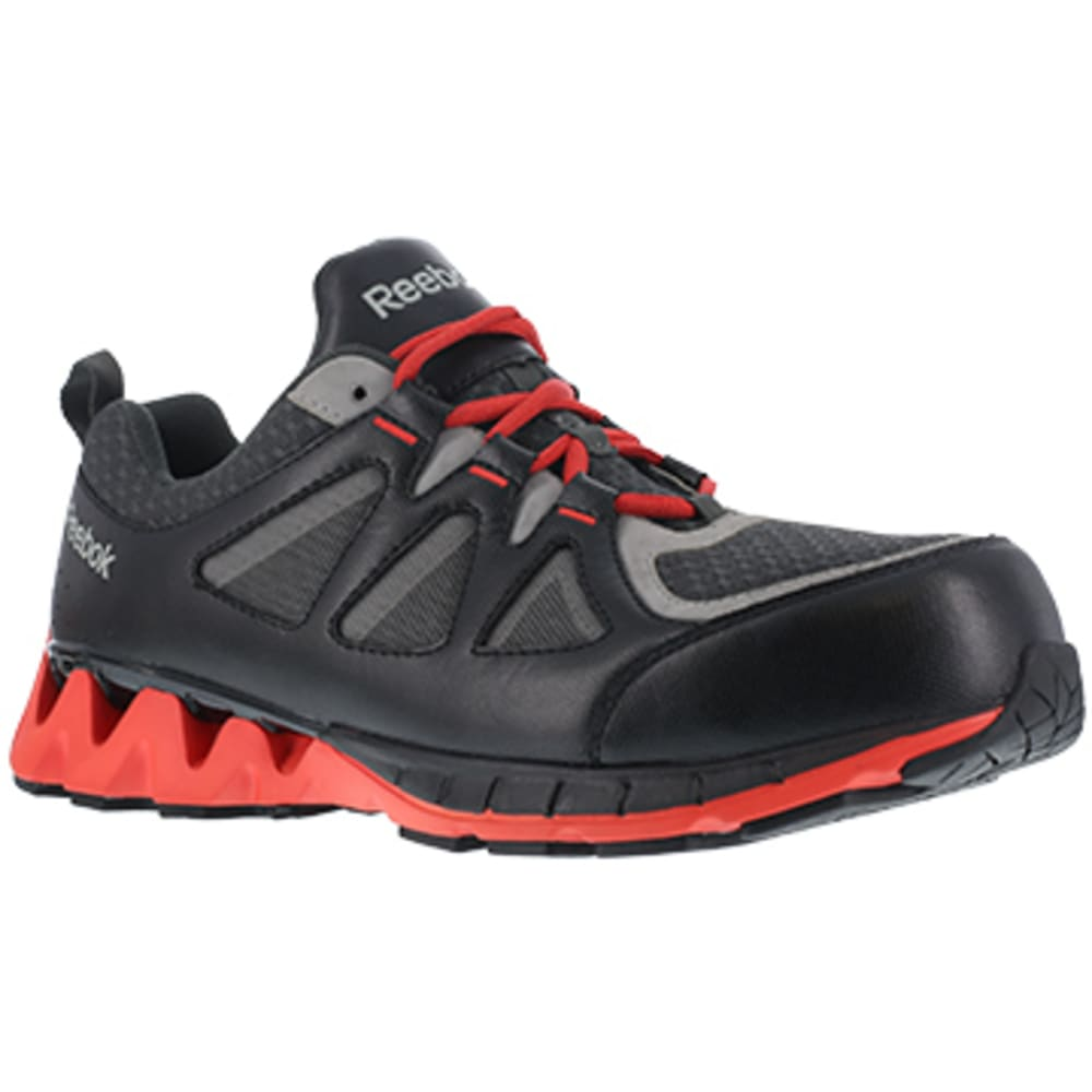 REEBOK WORK Men's ZigKick Work Composite Toe Athletic Oxford Sneaker - BLACK/RED