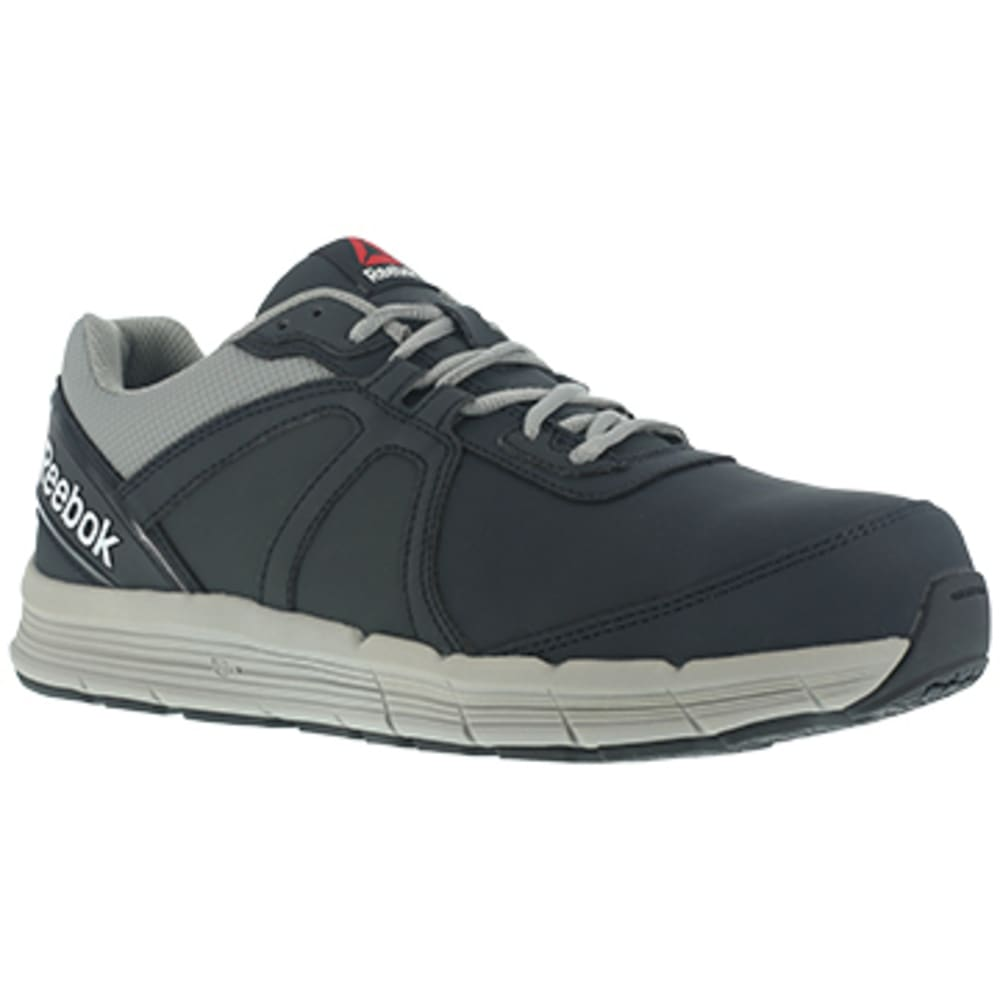 REEBOK WORK Men's Guide Work Steel Toe Performance Cross Trainer Sneaker, Navy/Grey 7