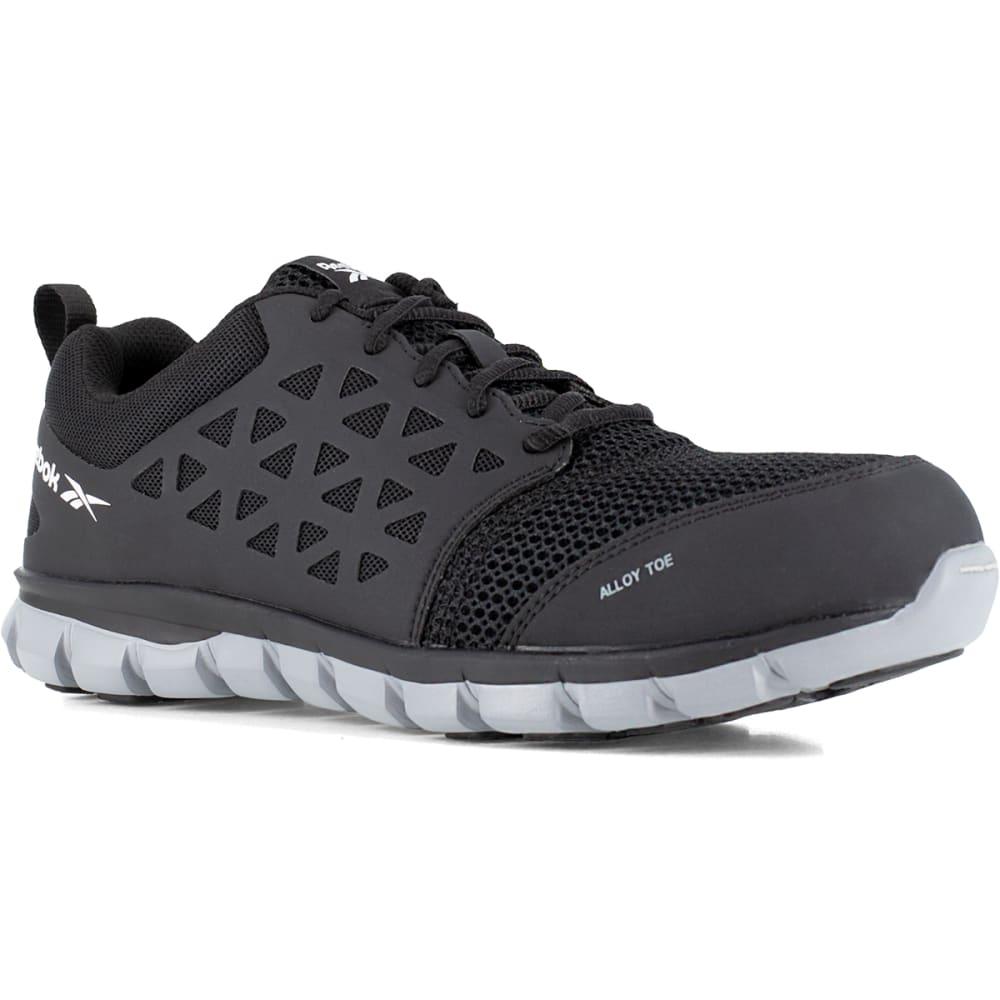 REEBOK WORK Men's Sublite Cushion Work Alloy Toe Athletic Oxford Sneaker, Black - BLACK