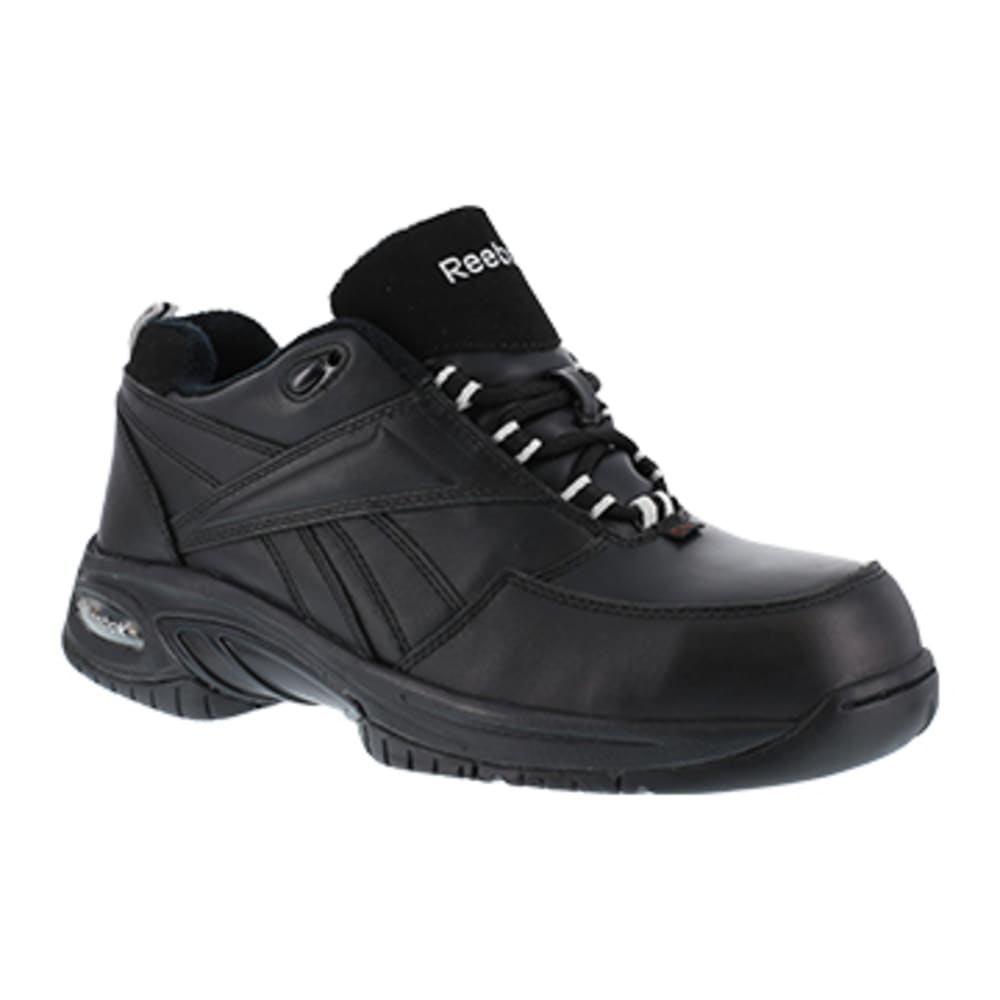 REEBOK WORK Men's Tyak Composite Toe High Performance Athletic Oxford Sneaker, Black - BLACK