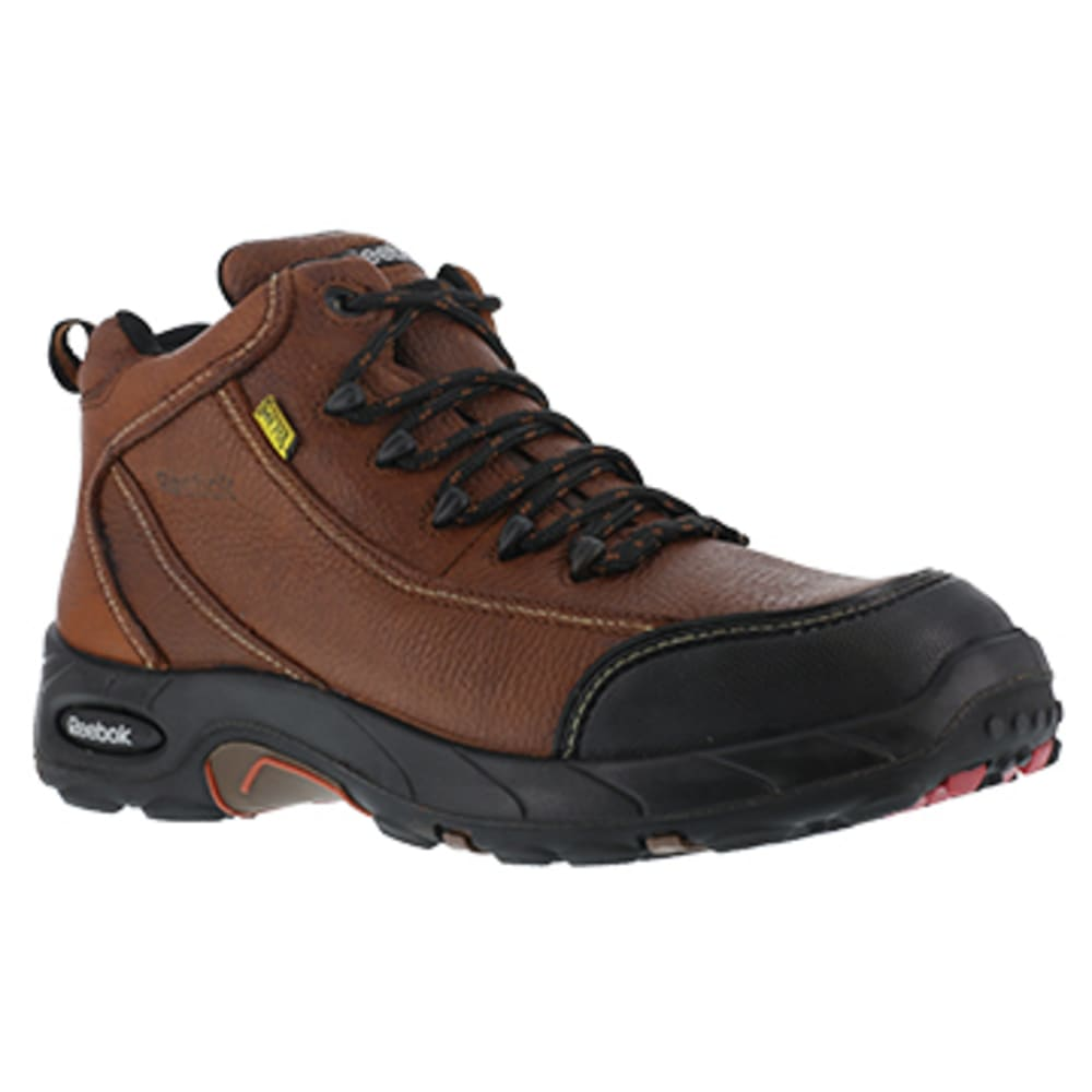 REEBOK WORK Men's Tiahawk Composite Toe Internal Met Guard Sport Hiker, Brown - BROWN