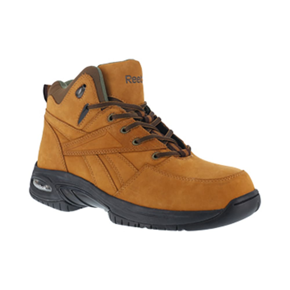 REEBOK WORK Men's Tyak Composite Toe Classic Performance Athletic Hi Top Hiker, Golden Tan 9.5