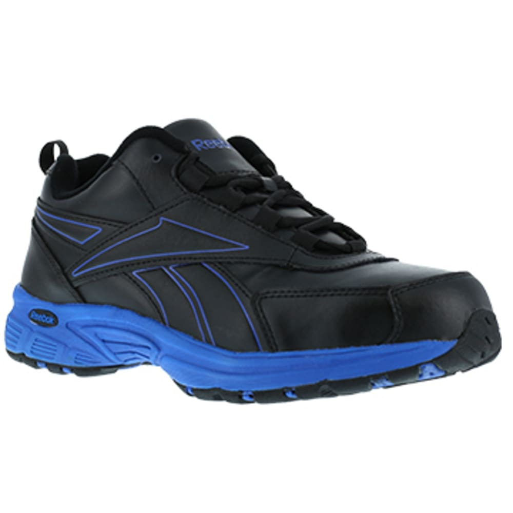 REEBOK WORK Men's Ateron Steel Toe Performance Cross Trainer Sneaker, Black/Blue 6