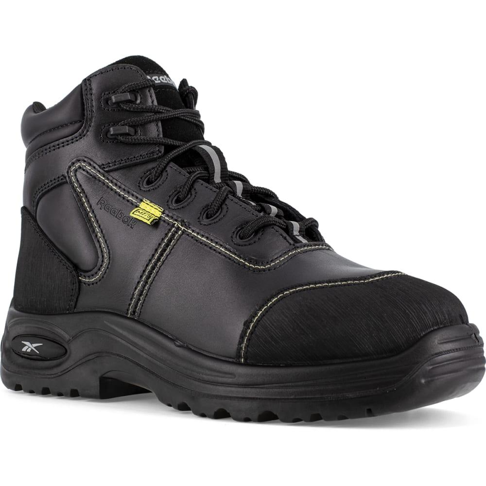 "REEBOK WORK Men's Trainex Composite Toe 6"" Internal Metatarsal Guard Boot, Black - BLACK"
