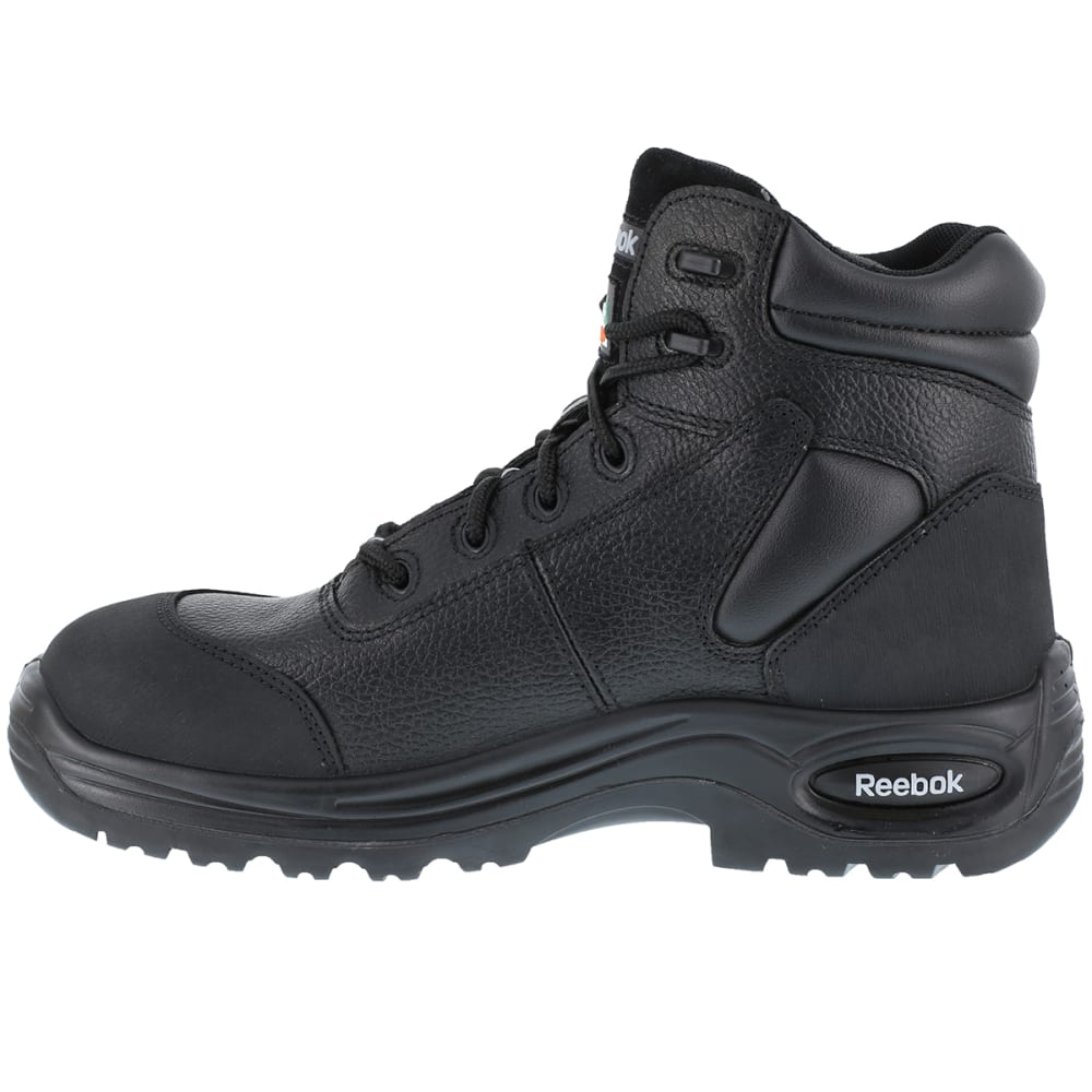 """REEBOK WORK Men's Trainex Composite Toe 6"""" Waterproof Puncture Resist Sport Boots - BLACK"""