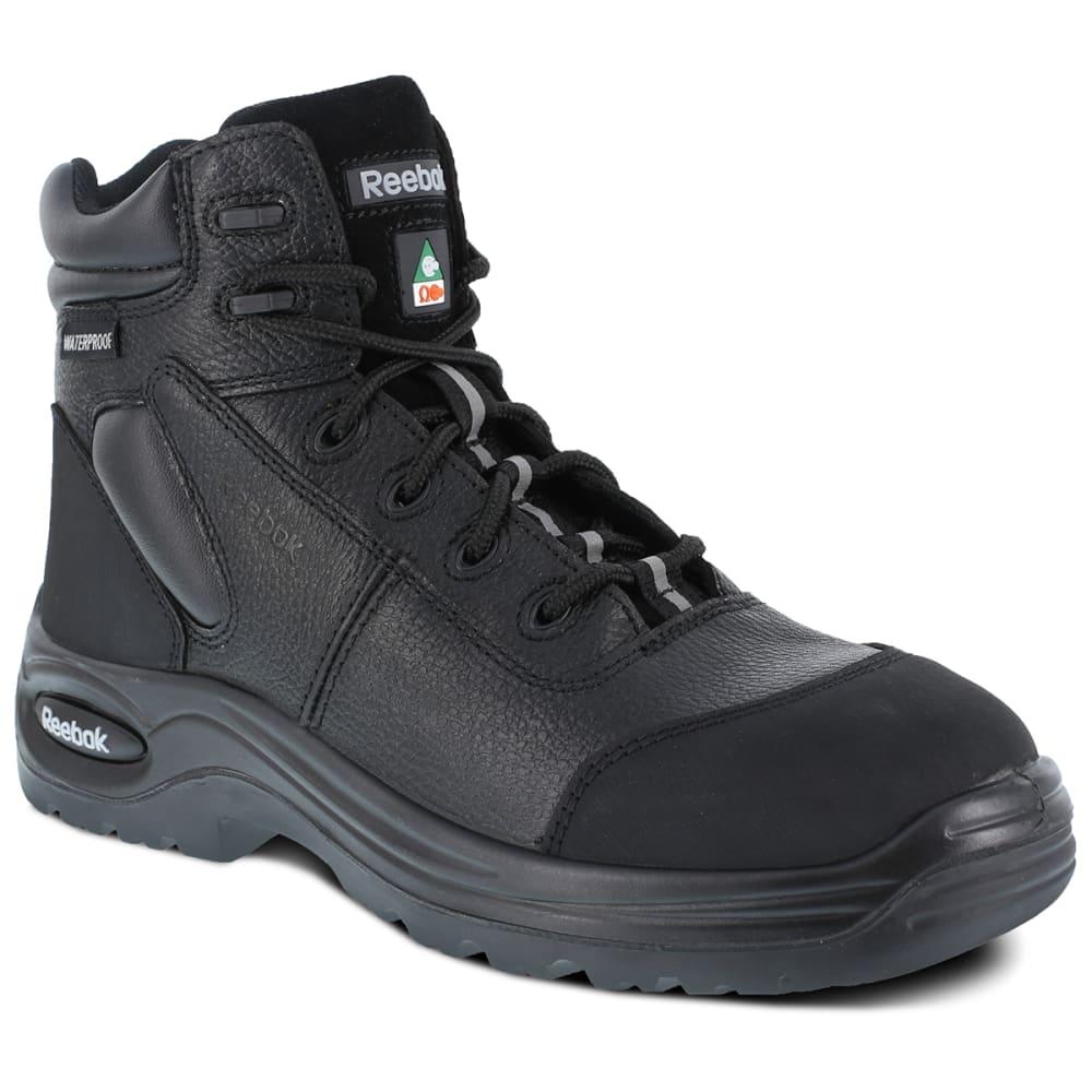 "REEBOK WORK Men's Trainex Composite Toe 6"" Waterproof Puncture Resist Sport Boot, Black - BLACK"