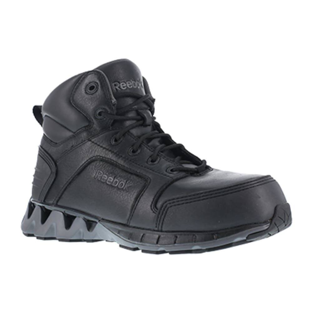 """REEBOK WORK Men's ZigKick Work Composite Toe Athletic 6"""" Boot, Black 7"""