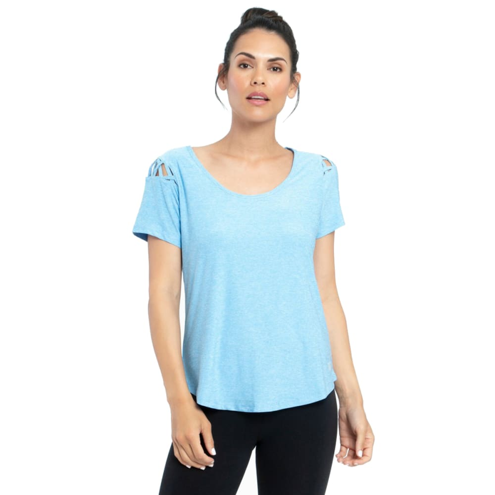 MARIKA Women's Renew Short-Sleeve Top - SILVERLAKE BLUE-453