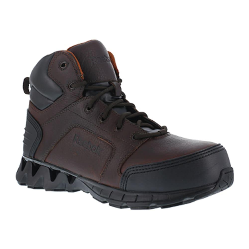 """REEBOK WORK Men's ZigKick Work Composite Toe Athletic 6"""" Boot, Brown - BROWN"""