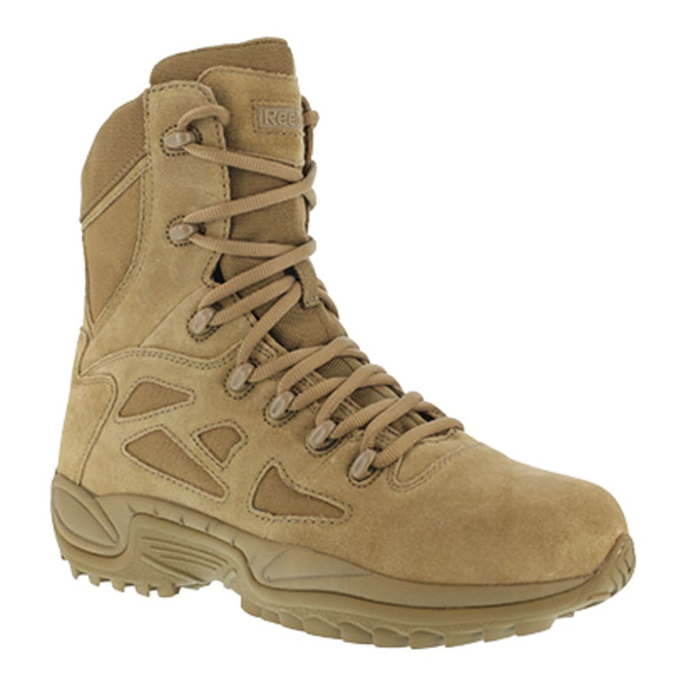 """REEBOK WORK Men's Rapid Response RB Soft Toe Stealth 8"""" Tactical Boot, Coyote - COYOTE"""