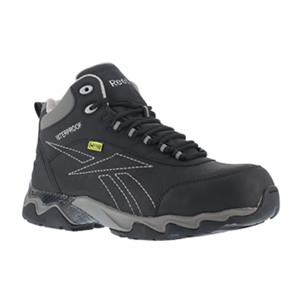 REEBOK WORK Women's Beamer Composite Toe Internal Met Guard Waterproof Athletic Hiker, Black/Grey - BLACK