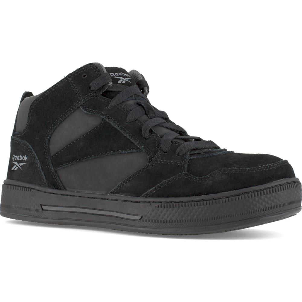 REEBOK WORK Women's Dayod Composite Toe Lightweight Skateboard Hi Top Sneaker, Black - BLACK