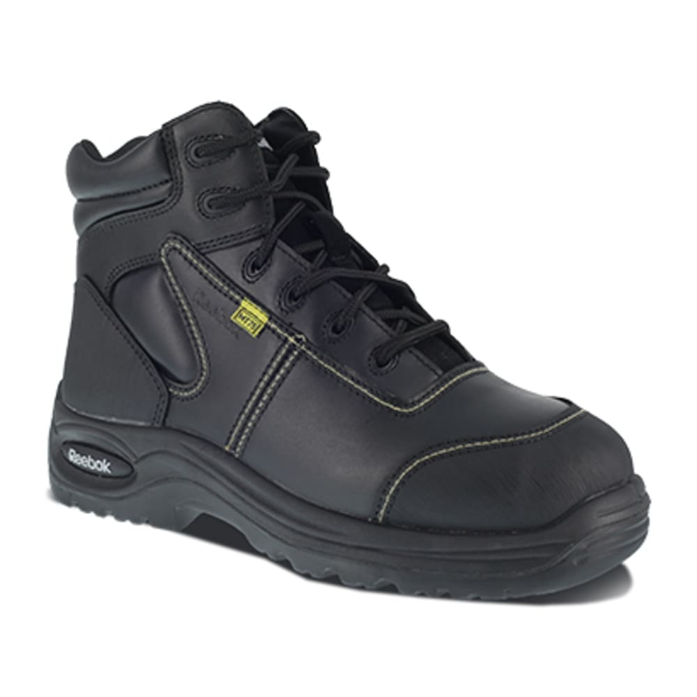 "REEBOK WORK Women's Trainex Composite Toe 6"" Internal Metatarsal Guard Boots - BLACK"