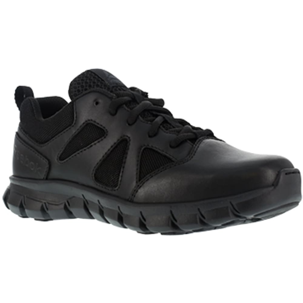 REEBOK WORK Women's Sublite Cushion Tactical Soft Toe Tactical Oxford Sneakers, Black 7.5