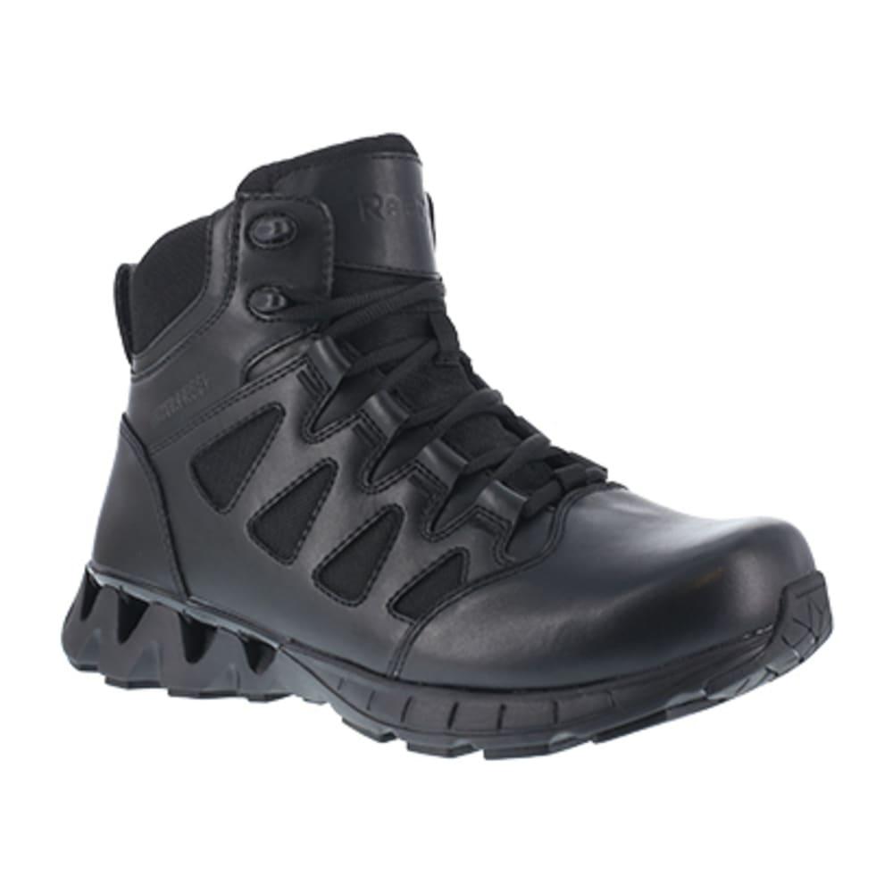 """REEBOK WORK Women's ZigKick Tactical Soft Toe 6"""" Waterproof W/ Side Zipper Boot, Black - BLACK"""