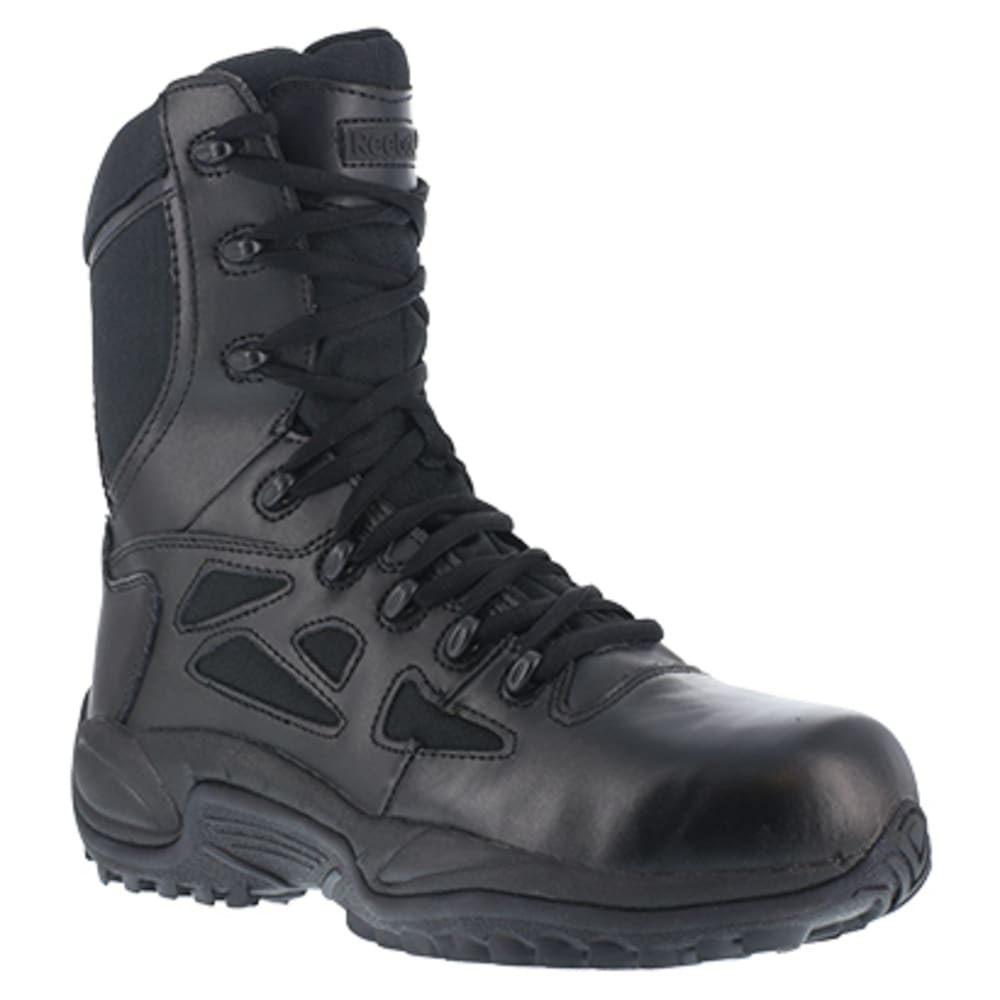 "REEBOK WORK Women's Rapid Response RB Composite Toe Stealth 8"" Boot, Black - BLACK"