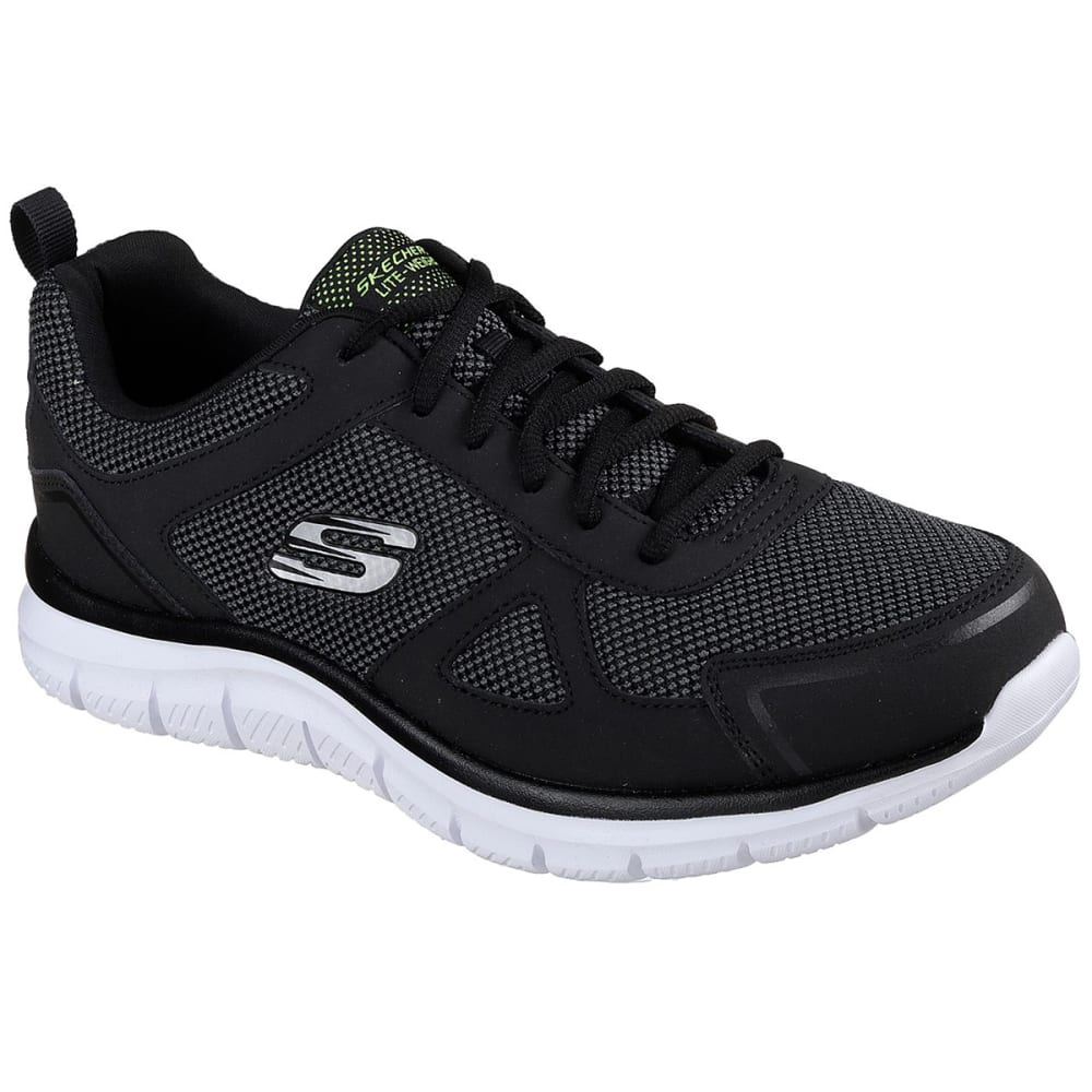 SKECHERS Men's Track Bucolo Shoe - BLACK/WHITE-BKW