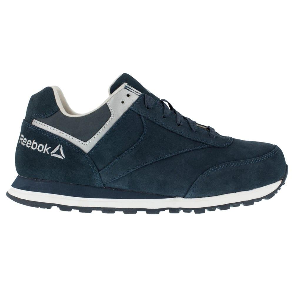 REEBOK WORK Women's Leelap Steel Toe Suede Leather Retro Jogger Oxford Sneakers, Navy Blue - NAVY