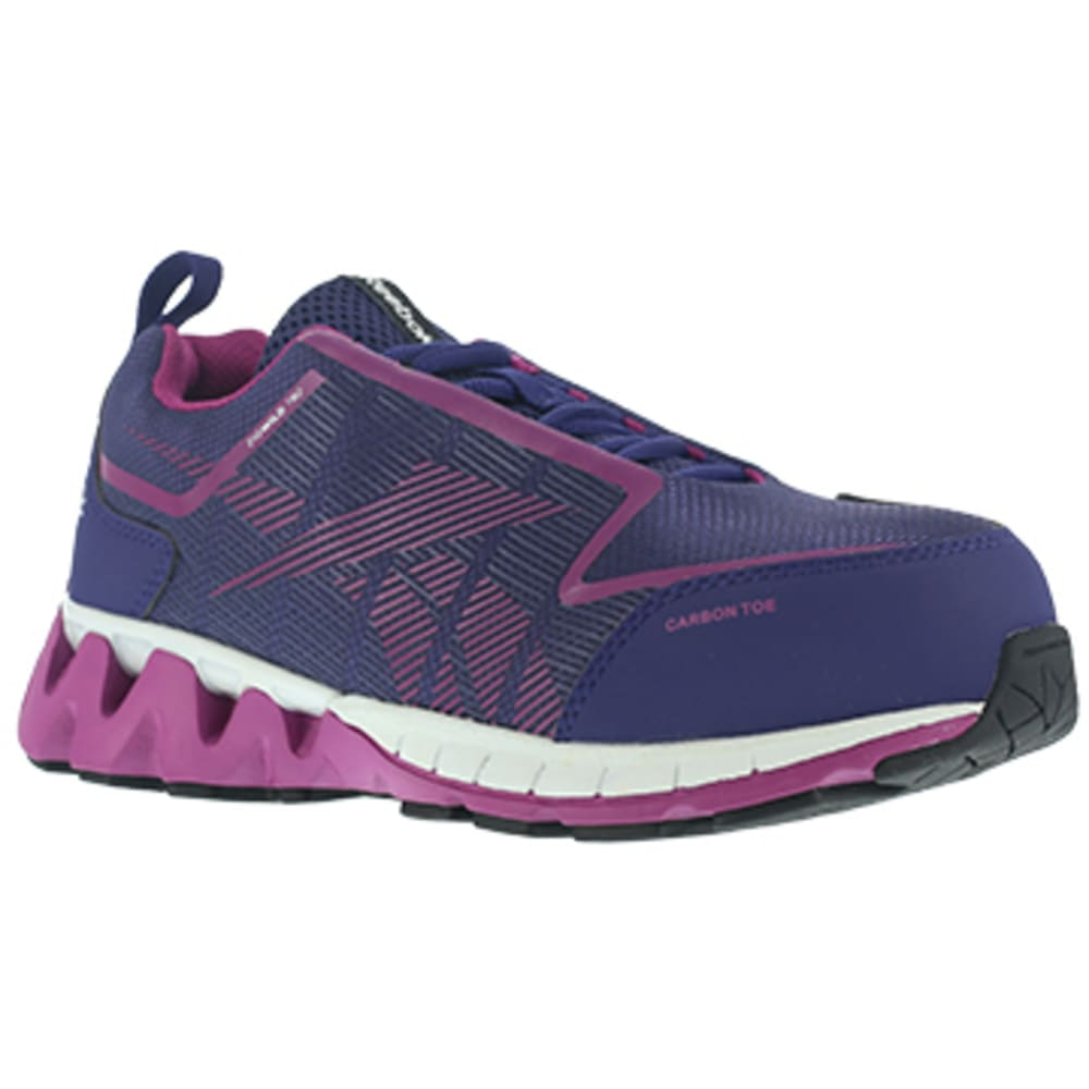 REEBOK WORK Women's Zigwild TR2 Work Carbon Toe Athletic Trail Runner Oxford, Purple/Pink - PURPLE/PINK