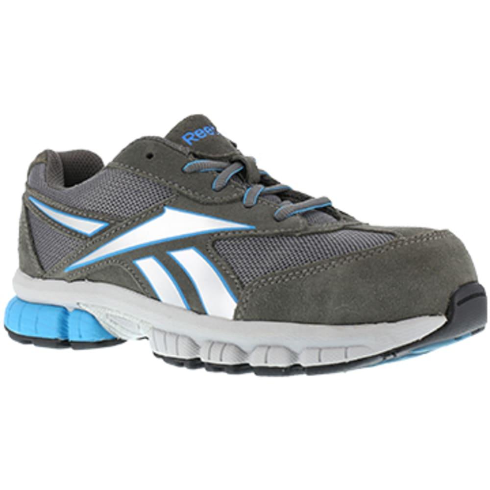 REEBOK WORK Women's Ketia Composite Toe Performance Cross Trainer, Dark Grey/Silver/Blue - DARK GREY