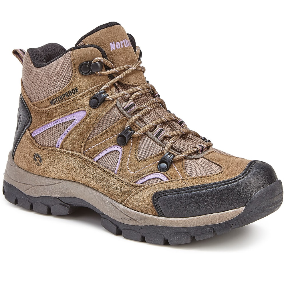 NORTHSIDE Women's Snohomish Mid Waterproof Hiking Boots - TAN/PERIWINKLE