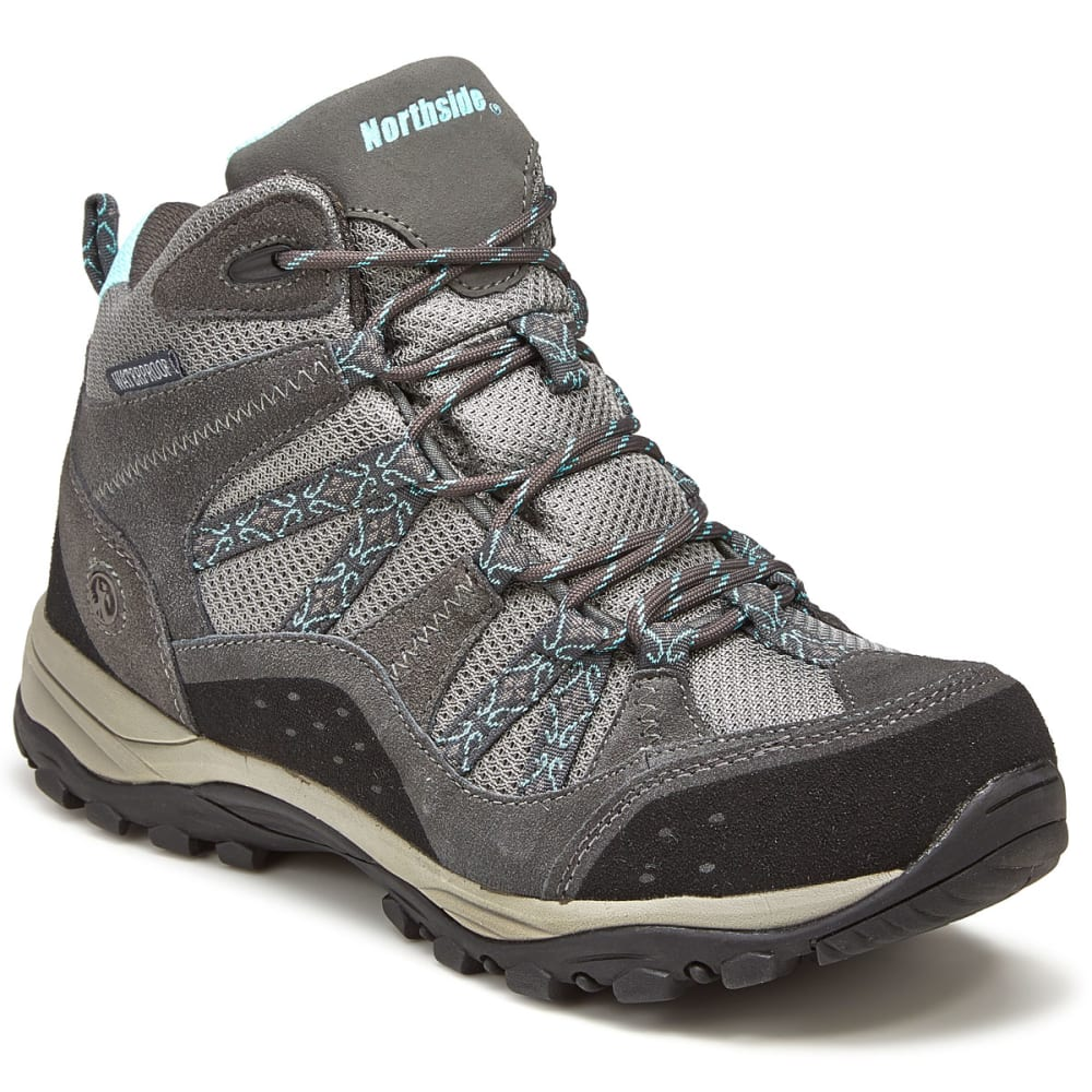 NORTHSIDE Women's Freemont Mid Waterproof Hiking Boots - GRAY/AQUA