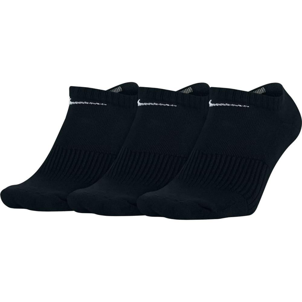 NIKE Unisex Perfect Cushion No-Show Training Socks, 3 Pairs - 001 BLACK