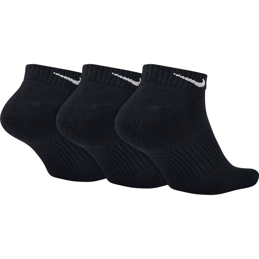 NIKE Unisex Perfect Cushion Low Training Socks, 3 Pair - 001 BLACK