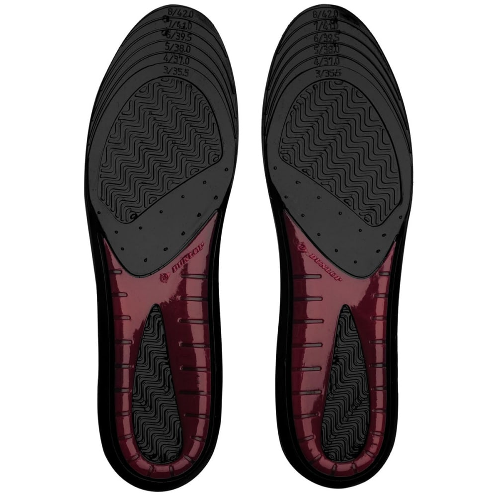 DUNLOP Women's Perforated Gel Insoles - BLACK