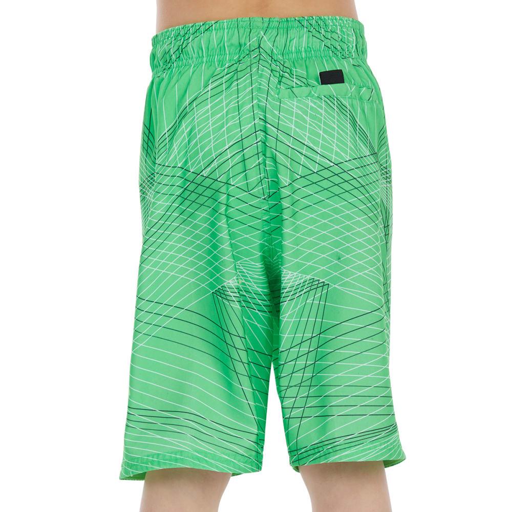 NIKE Big Boys' 8 in. Flywire Line Swoosh Breaker Swim Shorts - 370-GREEN STRIKE