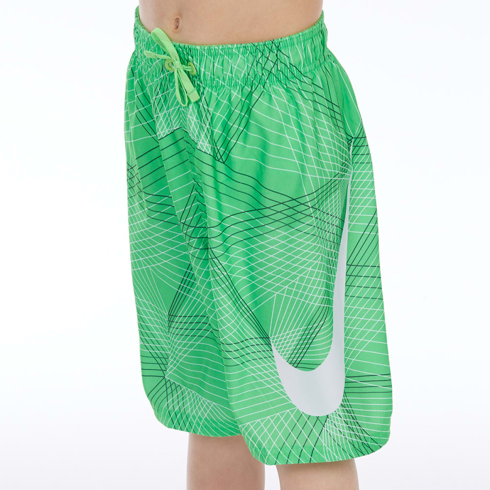 2bfabcf51d NIKE Big Boys' 8 in. Flywire Line Swoosh Breaker Swim Shorts