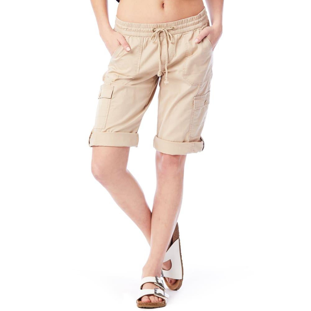 UNIONBAY Juniors' Greyson Convertible Skimmer Roll-Down Capri Pants - 250J-BEIGE KHAKI