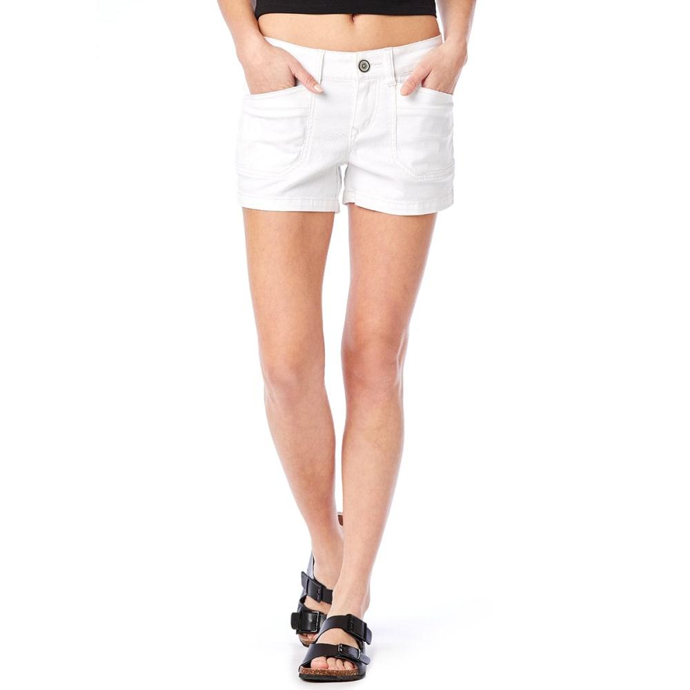 UNIONBAY Juniors' Delaney Solid Shorts - 100J-WHITE