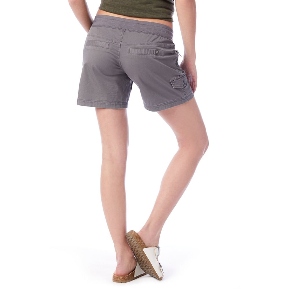 UNIONBAY Juniors' Christy Convertible Knit-Waist Shorts - 056J-LT GALAXY GREY