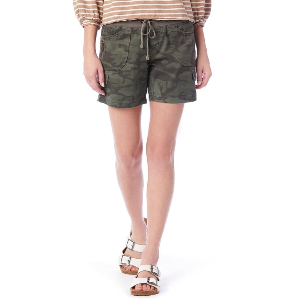 UNIONBAY Juniors' Christy Camo Convertible Knit-Waist Shorts - 396J-GREENBELT CAMO