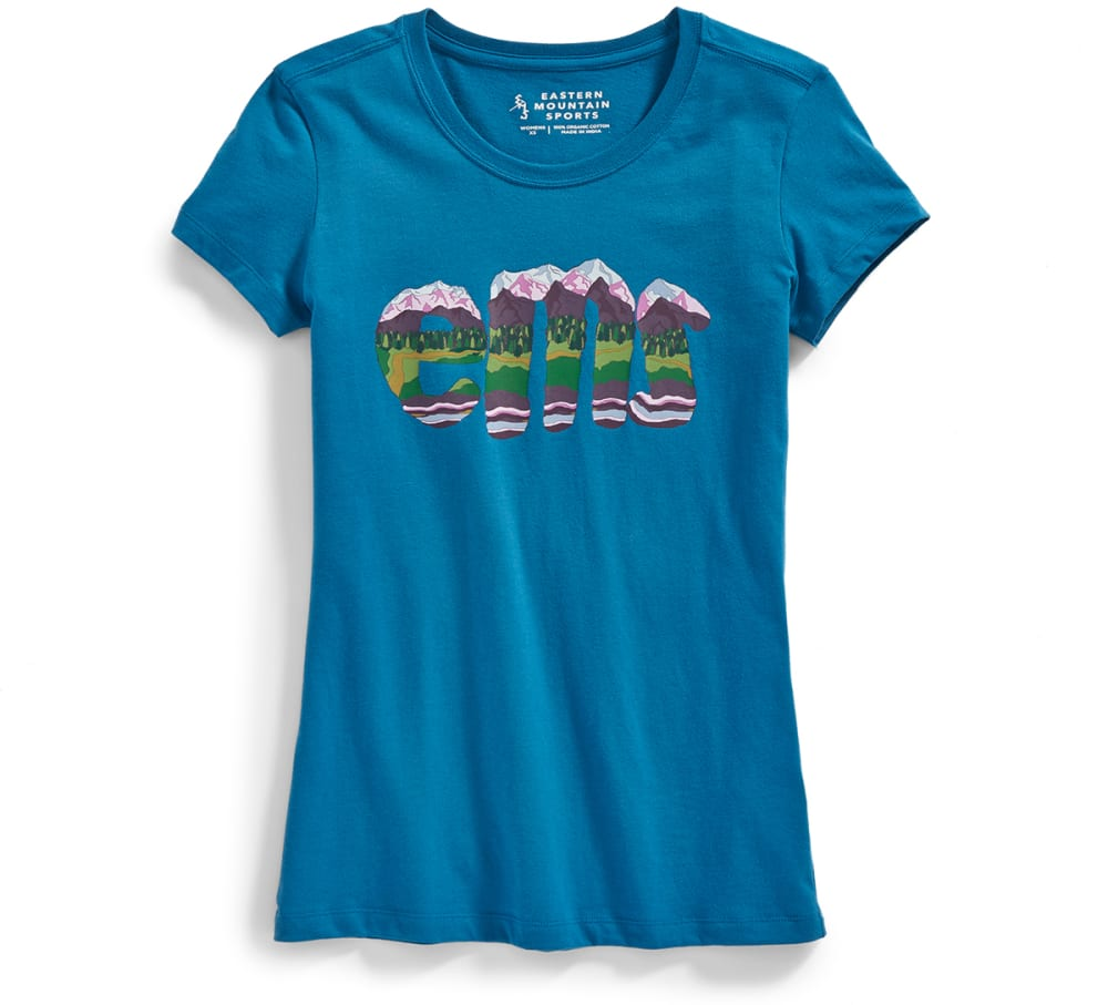 Ems Women's E.m.sediment Graphic Tee - Blue, XS